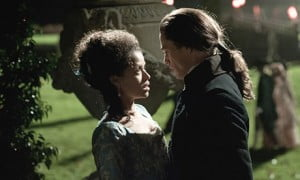 {IMAGE VIA - theguardian.com} Left to wonder if she will ever find love, Belle falls for an idealistic young vicar's son bent on change who, with her help, shapes Lord Mansfield's role as Lord Chief Justice to end slavery in England.