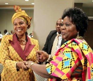 (L) First Lady of Equatorial Guinea with (R) Nana-Fosu Randall in New York.
