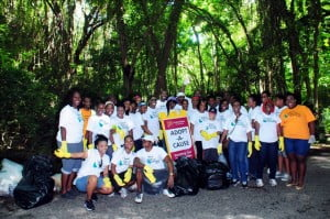 Over 40 staffers from the Broad Street, Fontabelle, Speightstown and Sheraton Centre branches of CIBC FirstCaribbean cleaned the Whim Gully in St. Peter recently as part of Clean Up Barbados.