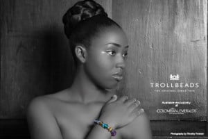 Deimarie Callendar (CLICK FOR BIGGER) Colombian Emeralds International – Barbados is proud to sponsor the photo challenges of the 2013 Kolij Runway – Bedazzled Competition with the exclusive, trend-setting brand: Trollbeads.