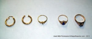 One of these rings in the photograph has the word 'Duke' inscribed on it. Familiar? (CLICK FOR BIGGER)