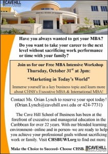 FREE MBA Intensive Workshop! Contact UWI today to guarantee your attendance! (CLICK FOR BIGGER)