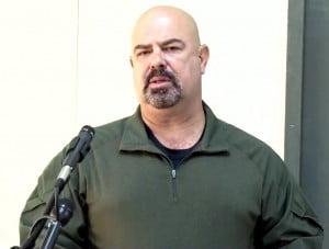 DEA Supervisor Special Agent Tony Mendonca addresses participants at closing ceremony