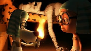 {IMAGE VIA - cgmeetup.net} Using his most ingenious invention, the WABAC machine, Mr. Peabody and his adopted boy Sherman hurtle back in time to experience world-changing events first-hand and interact with some of the greatest characters of all time. They find themselves in a race to repair history and save the future.