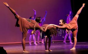 The NDDCI in the re-staging of Jeffrey Carter's 1993 choreography, Rhythmic Souls, during the 2012 dance season, Transition. Photo courtesy Mark Gellineau for the NDDCI.