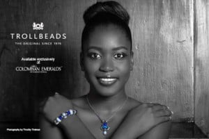 Nkasi Blair (CLICK FOR BIGGER) Colombian Emeralds International – Barbados is proud to sponsor the photo challenges of the 2013 Kolij Runway - Bedazzled Competition with the exclusive, trend-setting brand: Trollbeads.