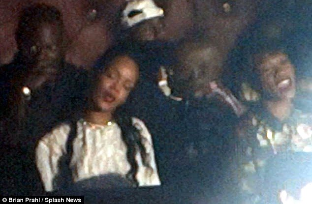 """{IMAGE VIA - dailymail.co.uk} """"His show precedes Barbadian recording artist, actress, and fashion designer Rihanna and her Diamonds World Tour, booked to perform tomorrow, Saturday, 26 October at the same hotel."""""""