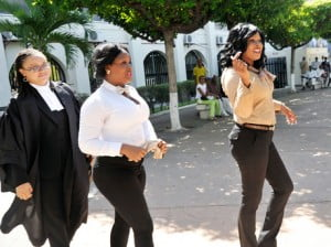 {IMAGE VIA: jamaica-gleaner.com} It is against this background therefore that we denounce and repudiate all of those self-serving opportunists who have pounced upon the recent Shanique Myrie (extreme right) decision of the Caribbean Court of Justice, and have sought to use it to attack the very concept of Caribbean integration and to suggest that the Treaty of Chaguaramas is something that is foreign and hostile to Barbados and Barbadians.