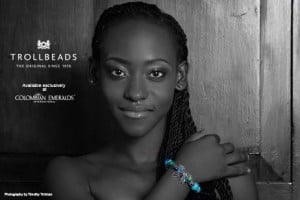 Sherisa Codrington (CLICK FOR BIGGER) Colombian Emeralds International – Barbados is proud to sponsor the photo challenges of the 2013 Kolij Runway - Bedazzled Competition with the exclusive, trend-setting brand: Trollbeads.