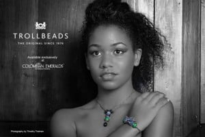 Siân Hallsworth (CLICK FOR BIGGER) Colombian Emeralds International – Barbados is proud to sponsor the photo challenges of the 2013 Kolij Runway – Bedazzled Competition with the exclusive, trend-setting brand: Trollbeads.