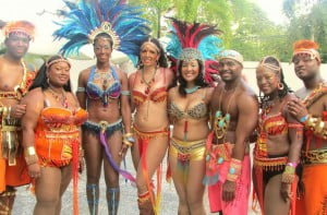 Some of Carnival Concierge's clients at the beginning of an action packed Carnival Tuesday