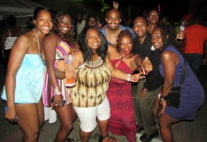 The Carnival Concierge crew having a ball at the annual Girl Power All Inclusive fete