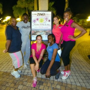 The resort also hosted a Zumba event on its plaza Thursday 10 October, with all of the proceeds will going to the foundation.