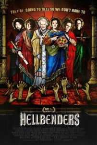 {IMAGE VIA - horrorcultfilms.co.uk} The Augustine Interfaith Order of Hellbound Saints, a team of blasphemous ministers who live in a constant state of debauchery, work to drag the worst of demons back to Hell.