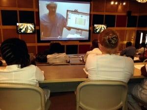Demonstrating the Skills Lab, Hugh Wynter Fertility Management Unit, UWI, Mona