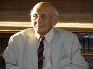 """Mr. Albert G. Williams, affectionately known as """"Tank"""" Williams, passed away this morning. He was a student, Master and Headmaster of Harrison College from 1939 to 1982. The preceding sentence does not begin to describe the impact that Mr. Williams has had on Harrison College, its staff and students, and society as a whole."""