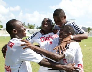Haitian players celebrate after winning the 3-on-3 tournament!