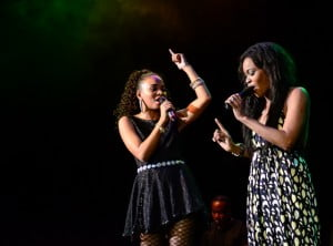 Recording artist Vita Chambers also flew in for the workshop and concert and both she and Shontelle joined the artists on stage for a freestyle at the end.