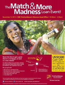 CIBC's Match & More loan promotion will help you to get your dream home, land or vehicle by matching* any competitor's loan rate. (CLICK FOR BIGGER)