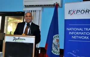 Mr. David Gomez, Manager – Trade and Export Development, Caribbean Export at the launch event in Belize.