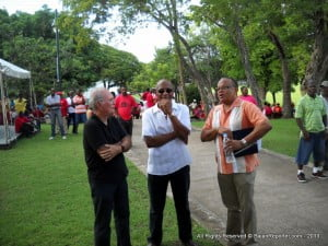 An intriguing reverie, shared between Sir Allen Fields, ex-BWA Chair Elvin Sealy and Dr Jerome X. Walcott...