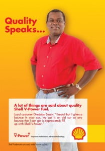 Loyal customer Gredston Sealy believes in V-Power from Shell...
