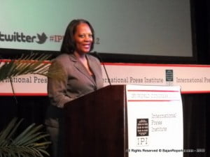 "{PERSONAL FILE IMAGE} ""What tremendous news for press freedom in Jamaica, the Caribbean, and the world over!"" International Press Institute (IPI) Executive Director Alison Bethel McKenzie, who has led three IPI missions to Jamaica, said today. ""I want to congratulate the Jamaican Parliament for staying the course and removing criminal defamation from the country's law books."""