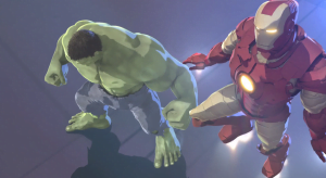 """{IMAGE VIA - geektyrant.com} Shell-head and the Jade Giant collide in the first clip from """"Marvel's Iron Man & Hulk: Heroes United,"""" an all-new movie coming December 3 to Blu-ray, DVD & Digital!"""