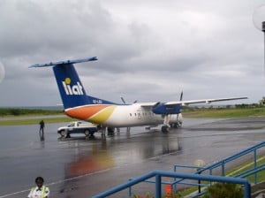 An aircraft from LIAT's fleet on the tarmac at the Vance W. Amory International Airport in Newcastle (file photo)