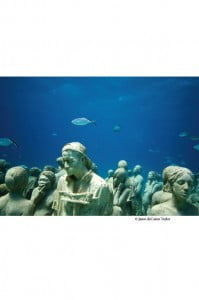 """Maroon Lives, page 56, """"Silent Evolution,"""" 2010, underwater sculptures by Jason deCaires Taylor, Cancun/IslaMujeres, Mexico. (© by Jason deCaires Taylor. All rights reserved, DACS 2012.)"""