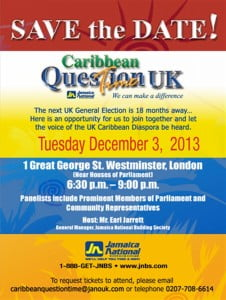 With the 2015 UK general election only 18 months away – how can the voice of the UK Caribbean Diaspora be heard?