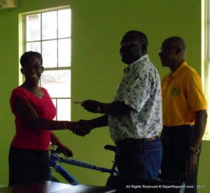 Ticket 0604 was lucky for Joyann, who's promised the bike to her son as a belated Christmas present
