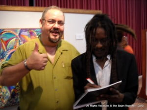 (IN HAPPIER TIMES WITH BAJAN REPORTER'S OWNER) What hurts even more profoundly, apart from the loss of a substantial quantity of cash and cheque that it contained, is the fact that my computer external hard-drive and a memory stick containing my ENTIRE LIFE'S WORK...