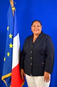 Aline Hanson, President, Collectivity of St. Martin. (COM photo)