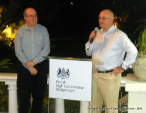Deputy High Commissioner for Barbados & Eastern Caribbean now Ret'd, could be suave or as down to earth as required - sorry he's no longer part of Barbados' Diplomatic Corps, Boy did he have fun slagging LIAT that night... Dr Jean Holder left Early! LOL!!!