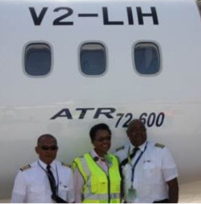 """While we will continue to do our best to provide our customers with a smooth travel experience, we must operate within the limitations set by the aircraft manufacturer and occasionally we will have no alternative but to cancel flights due to the high winds,"" the Acting CEO (centre) added."