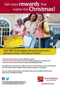 Every $50 spent this December at Super Centre or Dacosta Mannings gets you an entry form for a chance to Name Yuh Game! Then cheer on the contestants as they grab for cash in the CIBC FirstCaribbean Grab Machine! See press for details.