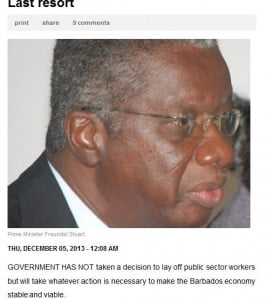 (CLICK FOR BIGGER) The DLP's priorities are wrong! It is the wrong government at the wrong time! And since it constitutes a cost overrun on the Treasury, it should be fired!
