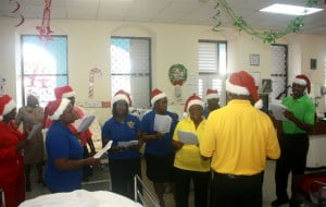 BPI Choir singing Christmas carols for the patients of the Geriatric Hospital.