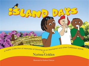 Cover of Island Days, an illustrated collection of poems about growing up in the Caribbean.