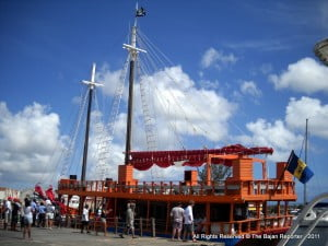 """(PERSONAL FILE IMAGE) The Marine Police and Coast Guard on the mentioned date boarded and searches on the party vessel """"Jolly Roger"""" which was docked at the Wharf Road, St. Michael.  As a result the mentioned person was charged when the drug was found on her person."""