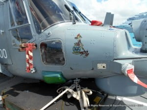 "The ""tattoo"" on the Lynx helicopter is known as 'Lady Sparta' watch the video as to why..."