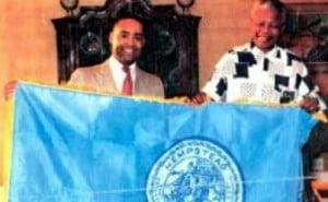 Mr. Mooney with Nelson Mandela in 1994