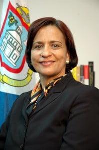 Sarah Wescot-Williams, Prime Minister of St. Maarten. (DCOMM photo)