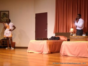 Smoking and an ex-stripper are not instant pathways of approval for strict parents, but Keshia made the effort and it paid off! Here she is with Richard Pepple in Katori Hall's play which imagines the night before MLK Jr was assassinated...