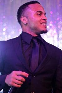'Socaholic' singer Ricardo Drue at a corporate Christmas gig