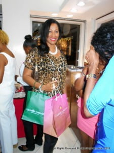 This lady is grinning because she won a gift bag from Lauren G Adams, when will you visit CEI Broad St?