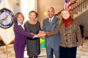 Victor Mooney with representatives from the Mexico and Croatia Consulate and U.S. Congresswoman Nydia Velázquez.