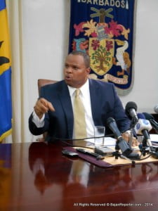 This disclosure came from Minister of Finance and Economic Affairs, Chris Sinckler, during a near monologue press conference at the Government Headquarters. A true assessment of the farce will be ready in a few days right here at >?Bajan Reporter! ;)