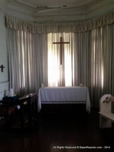 The prayer room at Hayes Court. Photo courtesy the Hayes Court Restoration Committee.